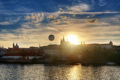 Praga (socrates197577) Tags: nikon tramonto nuvole fiume praga sole paesaggi hdr paesaggio città photomatix mygearandme