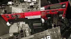 Electronic (Richard Sangi) Tags: new red blackandwhite branco computer pb preto vermelho info computador electronic tecnology tecnologia pretobranco
