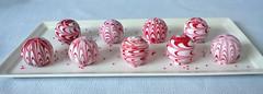 Valentine cake balls (1) (Cake Diane Custom Cake Studio (eyedewcakes)) Tags: holiday cake ball chocolate valentine pop marble truffle