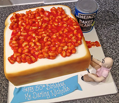 Beans on Toast Cake