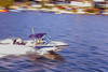 Blue Boat (LaloFTW) Tags: blue lake water de mexico boat bravo valle panning