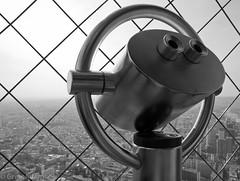 Eiffel Tower (Greg Adams Photography) Tags: travel winter sky blackandwhite bw paris france tower monochrome metal europe eiffeltower eu icon 2014 hhsc2000