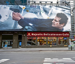 A Nosh with Some Action on Top (cbonney) Tags: new york movie square action manhattan liam deli times neeson
