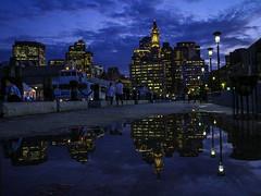 Boston at Dusk (M$ingh.) Tags: travel people usa boston evening dusk massachusetts clocktower citylights refllection storybookwinner storybookttwwinner