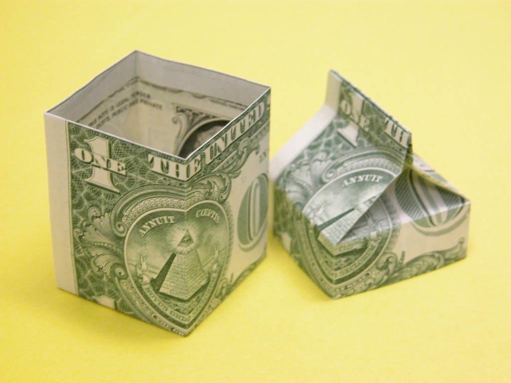 Origami Dollar Bill Pants