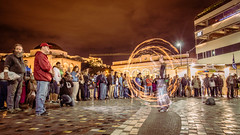 Poi fireshow in Monastiraki (alexchalatsis) Tags: street art fire europe flames performance objects athens greece burn poi acropolis fireshow attica monastiraki  misctags