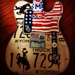 Freedom Guitar (Pennan_Brae) Tags: electric guitar plate fender license tele telecaster