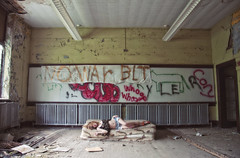 (yyellowbird) Tags: school selfportrait abandoned girl northdakota cari