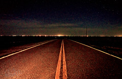 Night Moves (Chains of Pace) Tags: road longexposure sky storm oklahoma night rural landscape unitedstates sony retro prairie panhandle linear hardesty