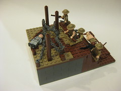 100th anniversary of the start of WWI (tyfighter07) Tags: lego anniversary wwi mini trench 100th british ww1 moc minimoc brickbuilder7