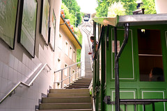 Funiculaire fribourg (mattkayphotography) Tags: train suisse transport tram vert fribourg gouts crmaillre historique funiculaire moyendetransport