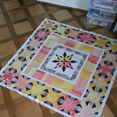 Aviatrix Medallion Quilt-Along - Center Block and Borders 1-3 (by niveas) Tags: