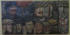 Diego Rivera mural (sftrajan) Tags: lenin art mexicocity mural arte communism trotsky diegorivera palaciodebellasartes mxicodf ciudaddemxico muralismo