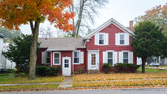 red house, white trim (contemplative imaging) Tags: autumn october nikon american walworthcounty day midwestern 2016 fall 20161015 small dslr sharon photography architecture d7000 photo foggy ciwisc20161015d7000 cloudy architectural wi overcast rural buildings town building structure structures dwelling country ronzack home wisconsin digital house america saturday fog usa midwest contemplativeimaging cool