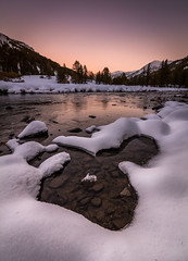 La Clare (Julie. D) Tags: eau water river rivire clare alps alpes france frenchalps snow neige nevache sunset paysage lanscape coucherdesoleil calm peaceful hautesalpes