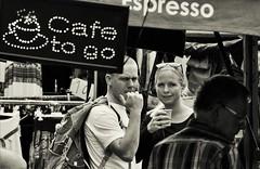 Time for a Coffee (heiko.moser (+ 9.800.000 views )) Tags: people personen publicity person portrait leute menschen monochrom mono noiretblanc nb nero bw blackwihte blancoynegro women woman entdecken einfarbig eyecatch eyecontact discover deutschland girl german youngwoman young teen teens frau kaffee coffee sw schwarzweiss street strasse streetart streetfotografie schwarzweis streetportrait streetfoto canon candid city heikomoser