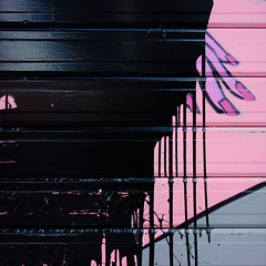 ......and i want it painted black. (sandroraffini) Tags: message messaggio decay violence violenza painted shutter varnish black pink purple superimposition everchangingcity prank spite urban details exploration hand splash minimalismo minimalism surreal abstract reality