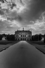 Palais @ Big Garden (neisi.photography) Tags: castle sightseeing schloss sachsen grosergarten nature palais dresden architecture lustschloss frstenallee blackandwhite bw frstenallee groergarten deutschland de