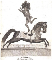 Handbill-Entertainment-Acrobat-Equistrian-Hero (Pocket Empire) Tags: entertainment recreation horse animal blackandwhite badidea peoplewithanimals illustration circus 18thcentury acrobat advertisement drawing engraving