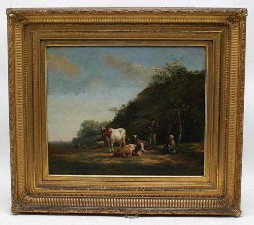 Hendrikus Bakhuyzen Painting on Board ($5,376.00)
