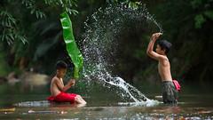 Kisah hidup kami (Sharif Putra) Tags: sabah malaysia penampang water river kids nature