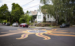just your average intersection (Satirenoir) Tags: portland oregon pdx mural ontheroad unconventional