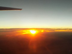 flight phx to denver (just me julie) Tags: sunset sun clouds inflight airborne