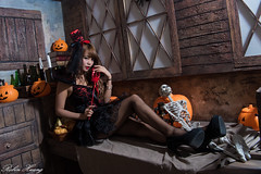 DSC_7388 (Robin Huang 35) Tags: 孫卉彤 candy miruna萬聖風 小惡魔 吸血鬼 vampire 萬聖節 halloween 棚拍 lady girl d810 nikon devil