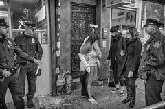 "West Village NYC  ""Disorderly Conduct"" (Roy Savoy) Tags: nyc streetphotography street city bw blackandwhite people costume roysavoy newyorkcity newyork blacknwhite streets streettog streetogs ricoh gr2 candid flickr explore candids photography streetphotographer 28mm nycstreetphotography gothamist tog mono monochrome flickriver snap digital monochromatic blancoynegro"
