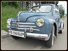 Renault 4CV Dcouvrable, 1956 (v8dub) Tags: renault 4 cv dcouvrable 1956 schweiz suisse switzerland fribourg freiburg french pkw voiture car wagen worldcars auto automobile automotive aircooled old oldtimer oldcar klassik classic collector
