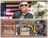 Brent Diptych (J Trav) Tags: brent persona brenthinds mastodon giraffetongueorchestra portrait whatsinyourbag theitemswecarry showusthecontentsofyourbag woodcarving americanflag diptych
