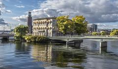 Vasabron bridge & International IDEA offices at Strmsborg islet, Stockholm (PriscillaBurcher) Tags: vasabronbridge stockholm thevasabridge strmsborg gamlastan internationalidea ragnarstberg l1850713