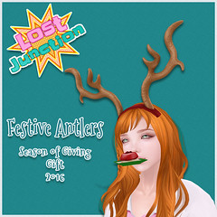 [LJ] Festive Antlers - Season of Giving 2016 (Tala Laval) Tags: christmas second life feast cheer holiday party chocolate santas sled crock pots cider chili cornbread