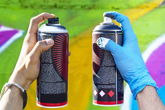 spray Cans Difference (Brother's Art) Tags: art can colors dirty graffiti image paint purple red aerosol artistic background color creative design different gloves green hand isolated object painter spray street urban white work