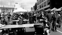 20161023-04-Tasmanian Farm Gate market randoms (Roger T Wong) Tags: 2016 australia bw hobart rogertwong sel2470z sony2470 sonya7ii sonyalpha7ii sonyfe2470mmf4zaosscarlzeissvariotessart sonyilce7m2 tasmania tasmanianfarmgate blackandwhite market mono monochrome people stalls