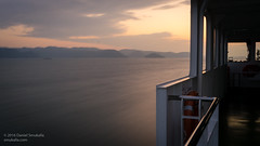Departing Naoshima (Daniel Smukalla) Tags: a99 asia boat cmos digital dslt eastasia ferry fullframe japan longexposure motionblur naoshima ocean sea shikoku slowshutter sony sonya99 sunset timelapse water tamanoshi