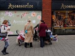 little accessories (watcher330) Tags: carmarthen women mothers children shopfront takeawaycoffee