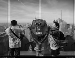 Top Of The Rock, New York, United States (Lars-Rollberg.com) Tags: newyork unitedstates nyc ny manhattan usa america bigapple city sw schwarzweis blackandwhite bw topoftherock totr