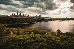 Ottawa - Parliament Hill (kevingomes1) Tags: lenstagger trees ottawa parliamant building hill water ontario canada capital sky dramatic architecture cloudy sun shining alexandria point no people nepean landscape river