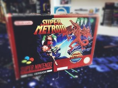 Photo of Super Metroid Big Box Edition. #retrovideogames #videogameroom #videogamecollection #videogames #mancave #retrogames #retrogaming #gaming #nintendo #snes #famicom #consoles #metroid #pal #gamesroom #gameshed