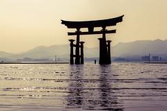 Itsukushima (watchthewrld) Tags: itsukushima wanderer tori landscape nature water sony lonely wide tones hot haze travelling summer hiroshima warm miyajima travel shadows explorer jp sky gate a6000 ocean sonyalpha japan