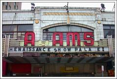 Adams Theatre Marquee - Newark, NJ (2004) (Ebanator) Tags: downtownnewark newarknj newark nikoncoolpix995 adamstheatre newarknewjersey theatre marquee theatremarquee