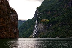 Seven sisters waterfall - Norway (Edward Newman Photography) Tags: waterfall norway norge forest fjord nature landscape geiranger summer scandinavia trees water boat geirangerfjorden mre og romsdal stranda world heritage site europe knivsfl farm