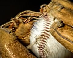 Make The Catch! (Wes Iversen) Tags: grandblanc macromondays macros michigan stitch stitches tokina100mmf28atxprod baseball baseballgloves motion motionblur baseballs sports