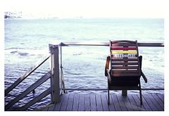 Off Duty (Anita Waters) Tags: lifeguard coogee beach wileys baths ocean pool chair olympus om2n fuji velvia film 100