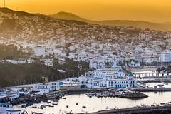 Vue panoramique de M'Diq - Maroc (Bouhsina Photography) Tags: mdiq tétouan tetuan maroc morocco vue panorama cité ville couleur coucher soleil port mer eau bassin 2016 canon bouhsina bouhsinaphotogrphy pêche barques