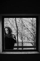 untitled with mask n.9 (Vincenzo Elviretti) Tags: monte scalambra serrone roiate lazio roma provincia maschera mask black white stupro edilizio paesaggio abbandono abandoned inquietudine mistero fantasma ghost nikon mistery