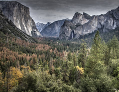 Iconic Tunnel View of Yosemite Valley (NormFox) Tags: autumn colors fall national park trees yosemite outdoors california landscape valley mountains hdr