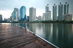 Bangkok Skyline (fredMin) Tags: benjakiti garden park skyscraper bangkok lake long exposure travel thailand fujifilm xt1 fujinon 1655