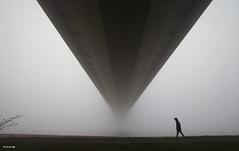 Fog On The Humber (aerial2) Tags: humberbridge